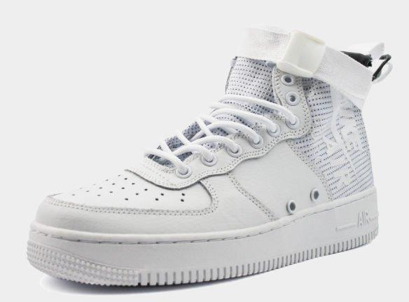 Nike SF Air Force 1 Mid белые